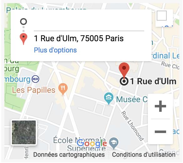 Se rendre au Laboratoire de sociologie juridique, rue d'Ulm 75005 Paris