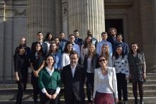 Photo de l apromotion 2017-2018 du Master 2 Communication juridique, sociologie du droit et de la justice