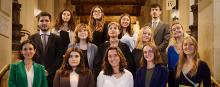 Photographie de la promotion 2021-2022 du M2 Communication, sociologie du droit et de la justice
